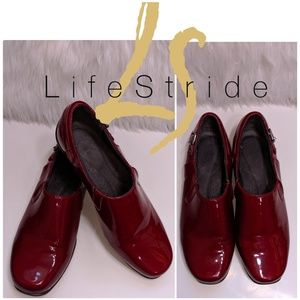 Life Stride Red Shiny Shoes
